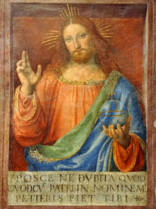 Blessing Christ, Savior of the World by Bernardino Luini. Photo by Dennis Jarvis.