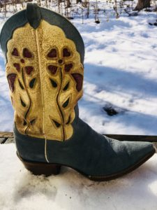 Butterfly boots by Justin. Lyn Fairchild Hawks' favorite boots.